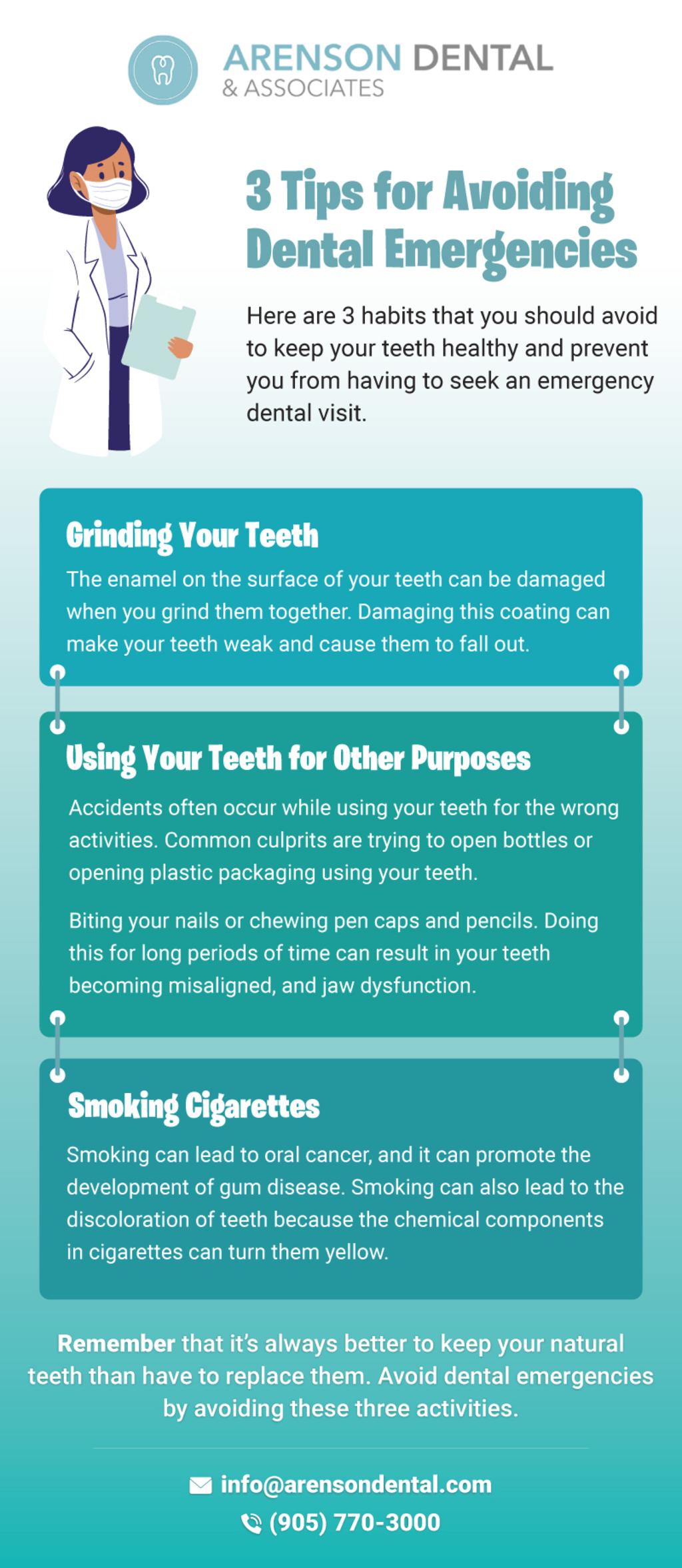 3 Tips for Avoidig Dental Emergencies via arensondental