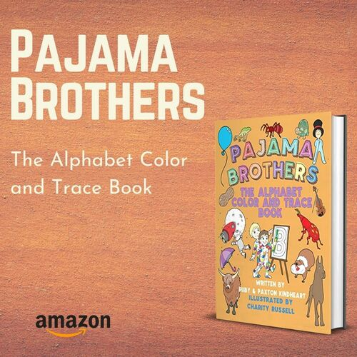 Pajama Brothers: The Alphabet Color and Trace Book via authors ebooks