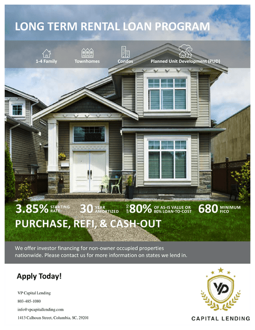 Short Term Rental Loan Program via VP Capital Lending