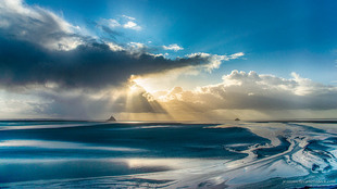Celestial light via Jean Michel