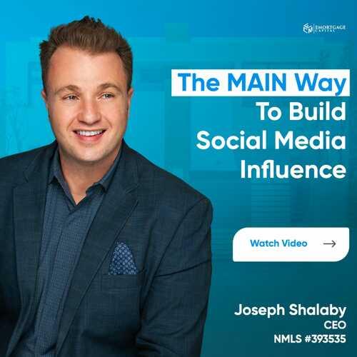 The MAIN Way To Build Social Media Influence via Joseph Shalaby