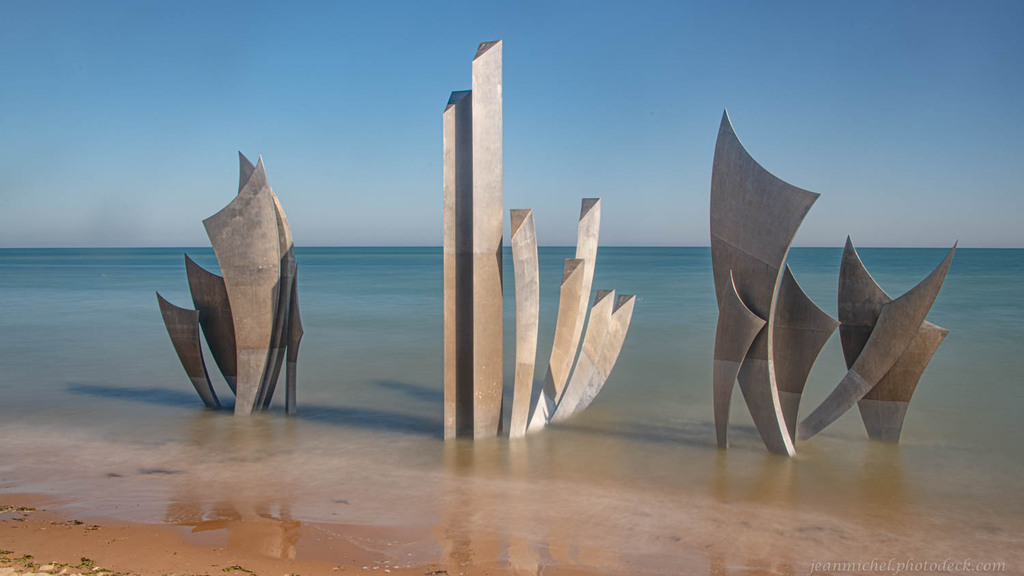 Omaha Beach Monument Statues via Jean Michel