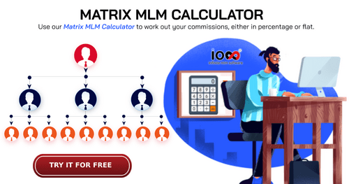 Free Matrix MLM Calculator For Commission Calculation via Infinite MLM Software