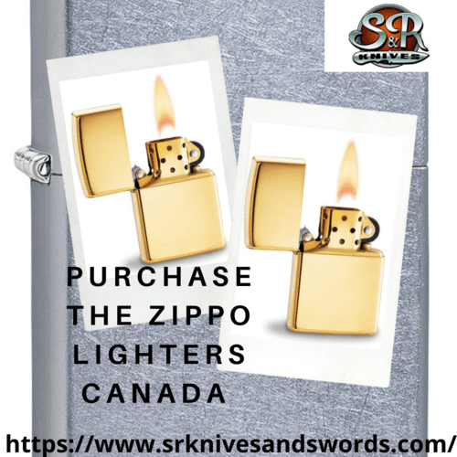 Purchase The Zippo Lighters Canada via S&R Knives