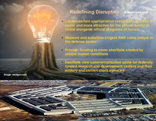 REDEFINING DISRUPTION - A Plan To Upgrade Defense Innovation via Ken Larson