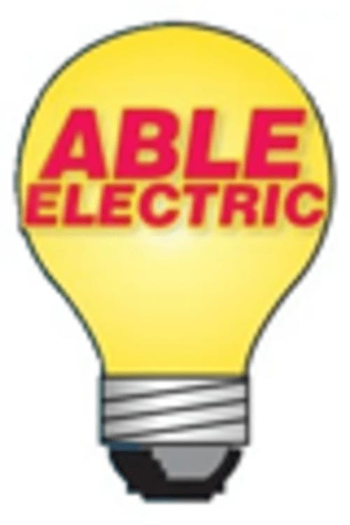 Our Company Logo #logo #business #company #electrician via Able Electric