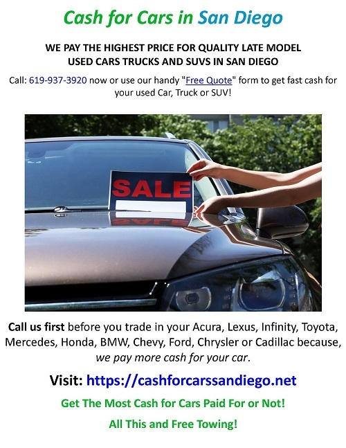 Cash for Cars in San Diego via Cash for Cars in San Diego