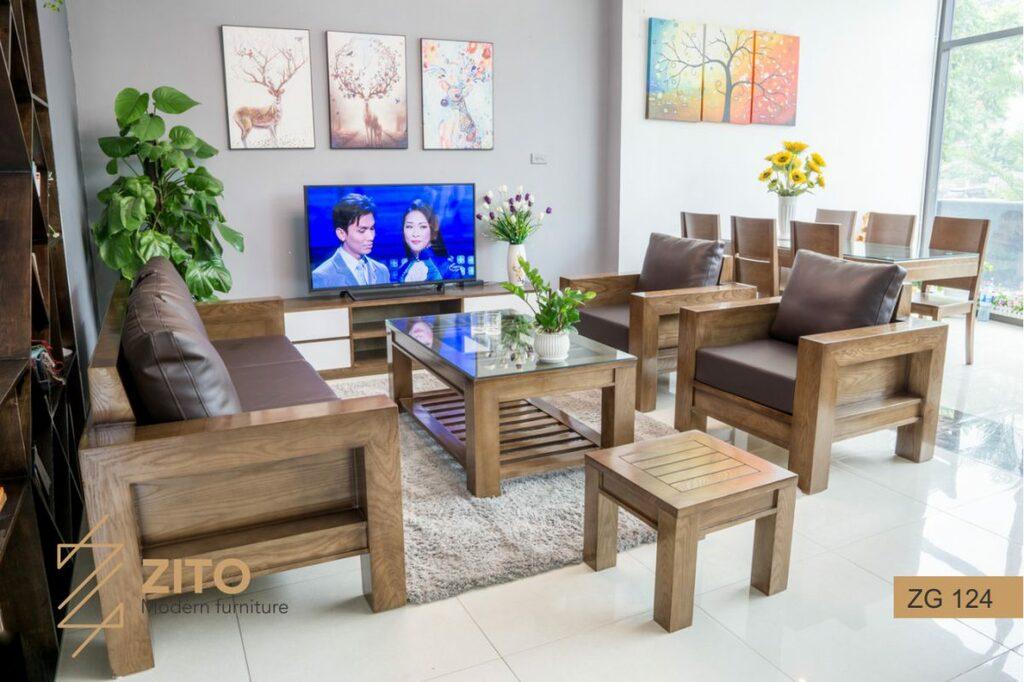 Màu sắc của sofa gỗ óc chó                                         Sofa gỗ óc chó là sản phẩm được đ... via Nội Thất Zito VN