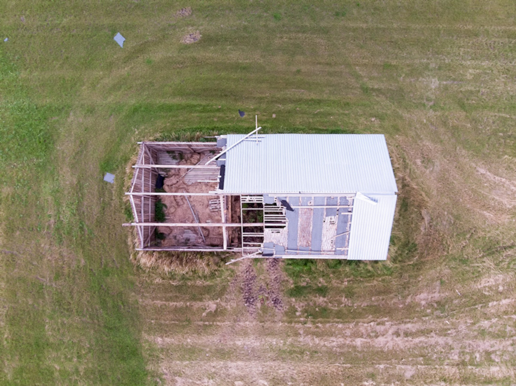 The old barn house has been almost destroyed after a summer ... via Jukka Heinovirta
