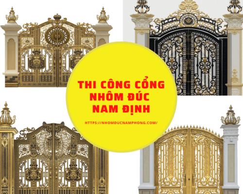 ⚜️Thiết kế, thi công cổng, cửa, lan can nhôm đúc tại Nam Địn... via dacsannamdinh