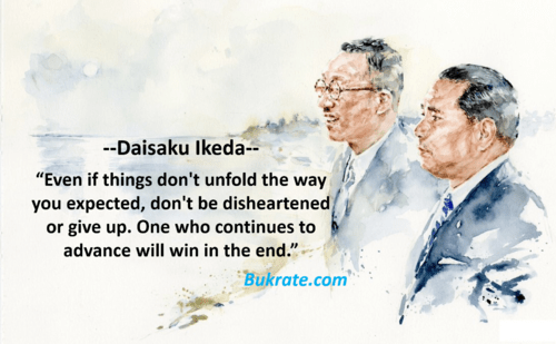 Even if things don't unfold the way you expected, don't be d... via bukrate