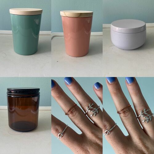 Candles with jewelry inside via Jewelry Candles