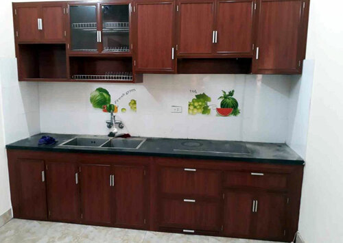 Lắp ráp tủ bếp nhôm kính nhỏ giá rẻ, chất lượng cao