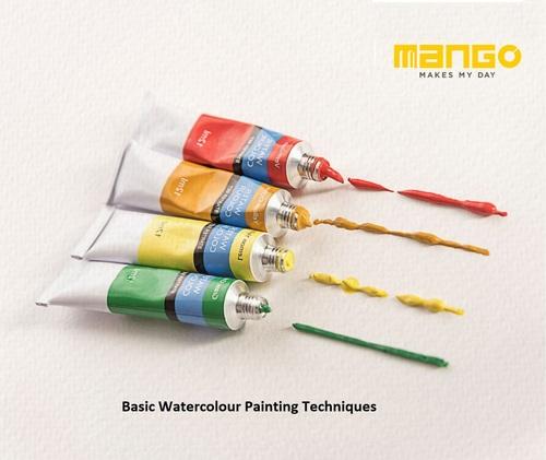 Basic Watercolour Painting Techniques via Mango Stationery Pvt Ltd