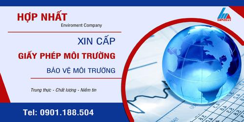 Xin cấp giấy phép môi trường để BVMT via Environment Profile