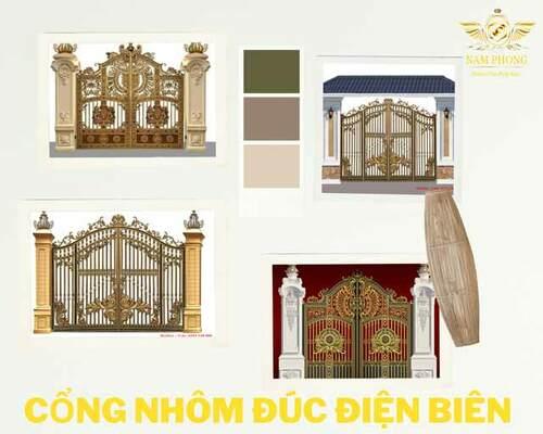 Cổng, cửa, lan can nhôm đúc tại Điện Biên giá bao nhiêu?