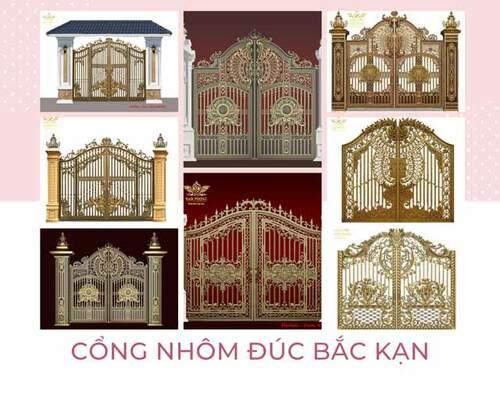 Cổng, cửa, lan can nhôm đúc Bắc Kạn giá rẻ, mẫu đẹp cao cấp