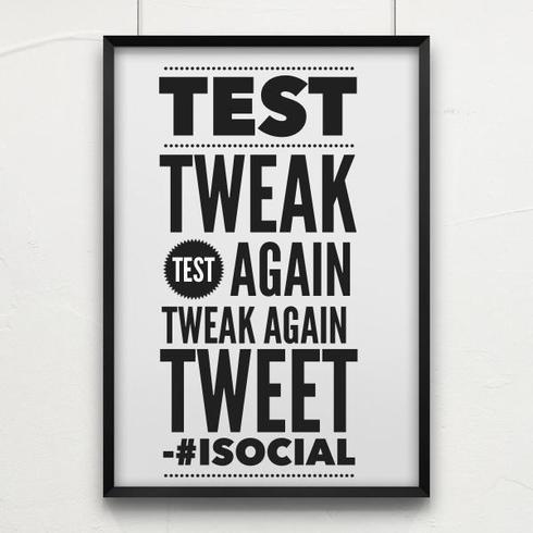 Perfect isn't achievable... Test, Tweak Test Again, Tweak Ag... via Brian Fanzo