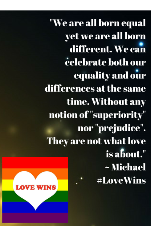 """""""We are all born equal yet we are all born different. We can... via Michael Q Todd"""