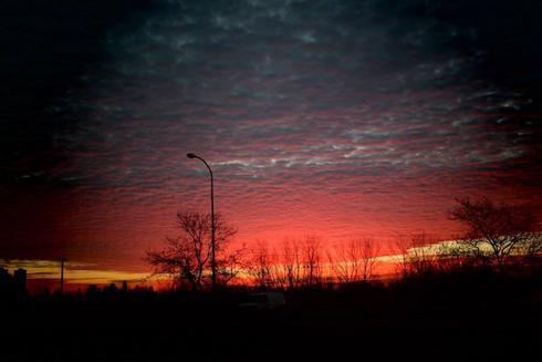 Captured a photo of this beautiful morning sunrise ~ via Grace Wong