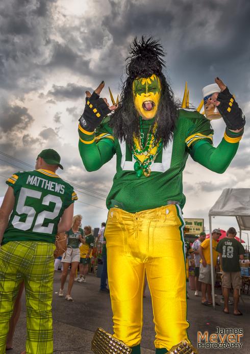 My buddy Dale at a Green Bay Packers fan pep rally before th... via JamesMeyerMedia