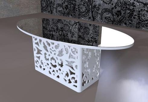 coffee table w/ laser cut design via Opel Mendoza