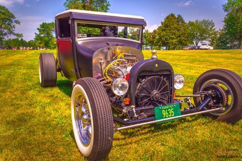 Classic car show. Old Model T I believe #classic #car #hotro... via JamesMeyerMedia