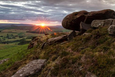 Just back from Sunset at Stanage Edge in Derbyshire. Hope yo... via Dave