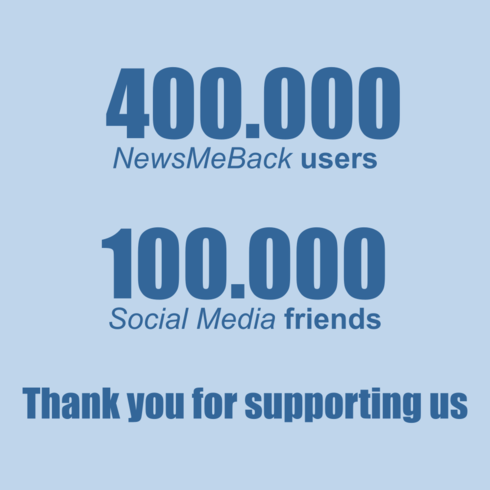 Woohoo !!! NewsMeBack has 400.000 users. Thank you for suppo... via Milan Pavlovic