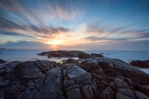 Sunrise in Itapu, Salvador - Brazil                                                                          4 minutes long exposure... via Uiler Costa