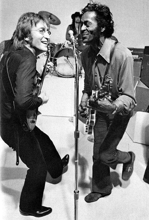 John Lennon and Chuck Berry, 1972 via Barbara Fariña