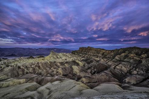 Looking east at the famed Zabriskie Point in Death Valley ea... via Jeff Clow