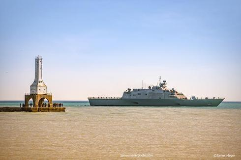 The USS Milwaukee battleship visited my hometown. It was pre... via JamesMeyerMedia