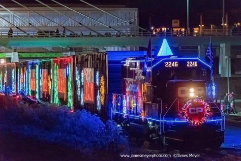 The 17th annual Canadian Pacific Holiday Train rolled throug... via JamesMeyerMedia