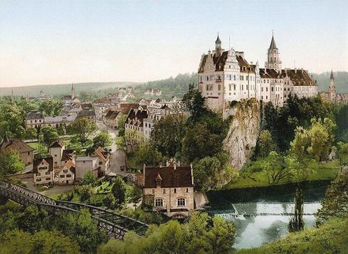 Castle of Sigmaringen                                     Rare Color Photos Reveal Germany In 19... via Mithu Hassan