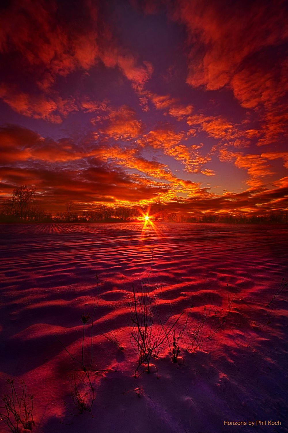 """""""Feeling Good Never Cost A Thing""""                                         Wisconsin Horizons By Phil... via Phil Koch"""