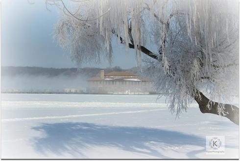 Hoar Frost - Riviera on Geneva Lake, WI via KayserPhotography