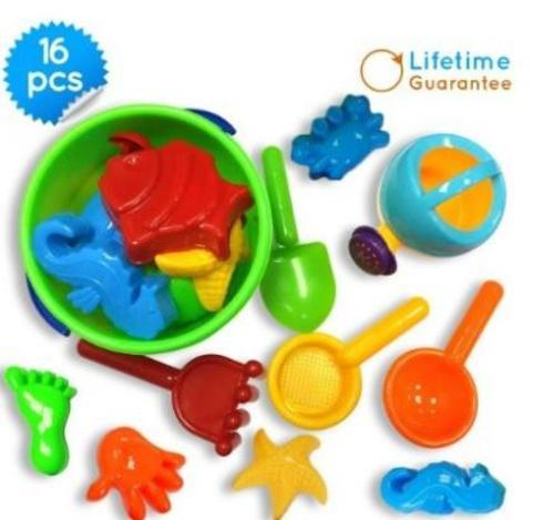 $13.97 ONLY                                      16 Pieces Sand Bucket Baby Beach Toys Set                                      Be a... via michael jones