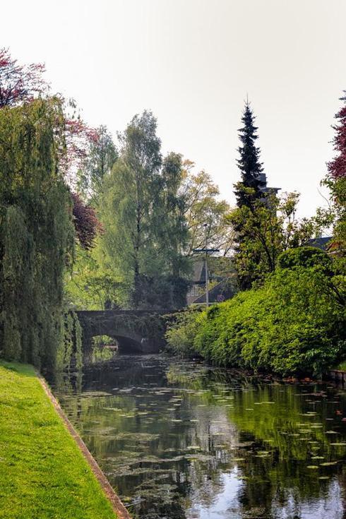 Little Bridge Over A Canal via Jukka Heinovirta