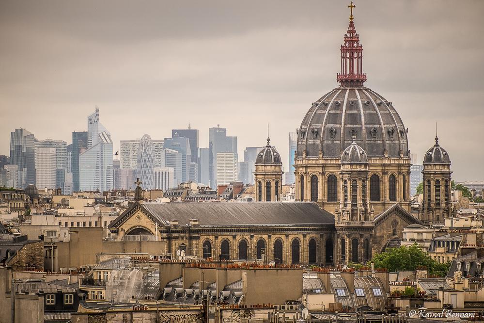 The rooftops of Paris (St Augustine Church) via Kamal Bennani