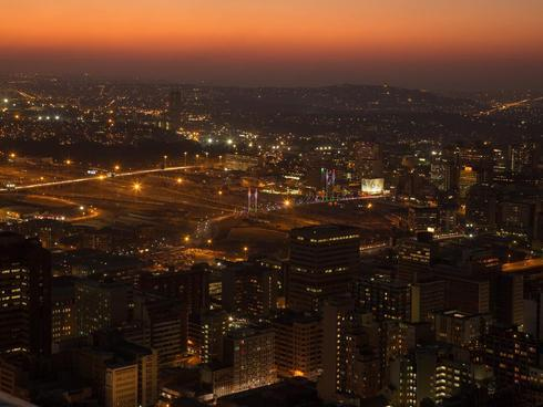 As the light fades over the city.  Doesn't mean because it's... via Lucia Hewitt