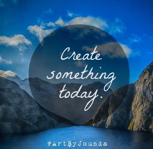 Something! Anything! Make art - not war!                                                                           #ArtByJounda #Art... via Jounda Strong
