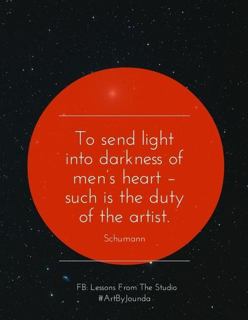 To send light into the darkness of men's heart - such is the... via Jounda Strong