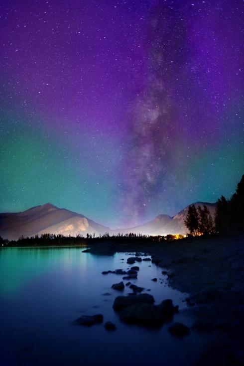 Mountain milky way - Dillon, CO. #astrophotography #milkyway... via Reid Collins