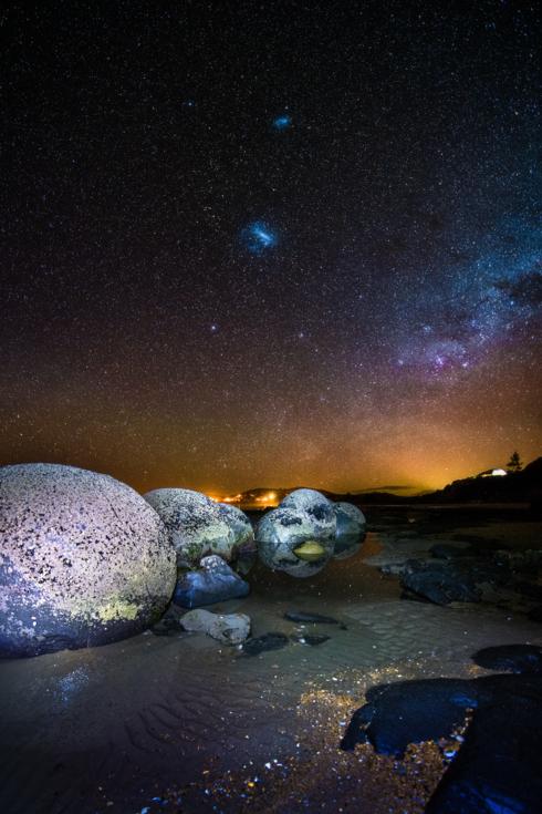 'From a Galaxy Far, Far Away...'                                     The mystical Moeraki Boulde... via Benjamin Maze