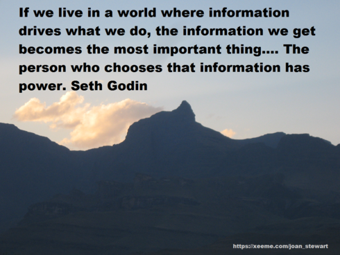 If we live in a world where information drives what we do, t... via Joan Stewart