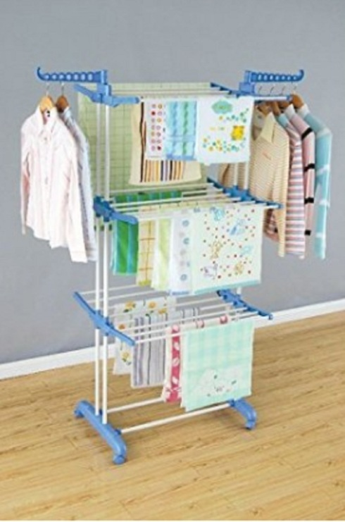 CLOTHES DRYING RACK                                     6 Fully adjustable shelf height stainles... via michael jones
