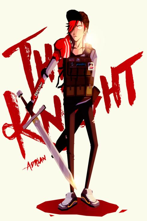 the knight via Kraster Lou