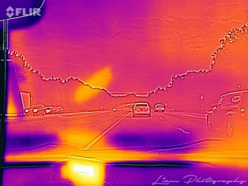 Got a new camera today so I shot a Thermal image on the driv... via Liam Douglas - Professional Photographer