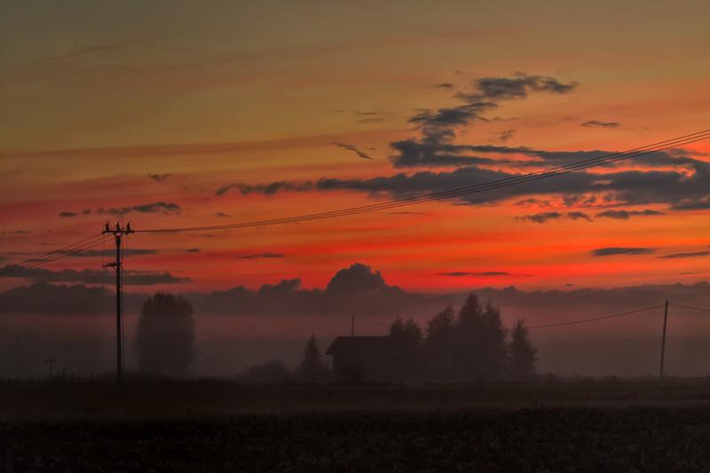 Telephone Lines In The Mist via Jukka Heinovirta